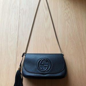 GUCCI Soho Black Chain Crossbody Bag